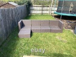 Rattan garden furniture corner sofa set