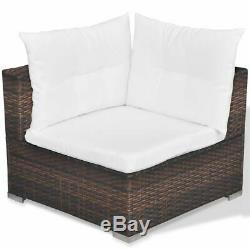 VidaXL Garden Lounge Set 17 Pieces Poly Rattan Outdoor Sofa Seat Multi Colours