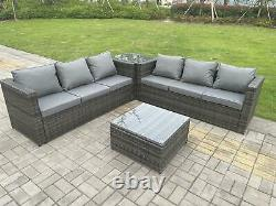 Wicker Rattan Garden Furniture Sofa Sets Outdoor Patio 2 Coffee Table