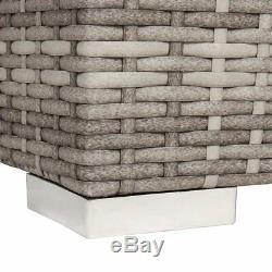 Wido Grey Rattan Sofa Set Wicker Garden Furniture Modular Sofa Cube Outdoor